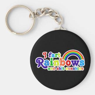 I Fart Rainbows and Shit Sunshine Grobe Keychain