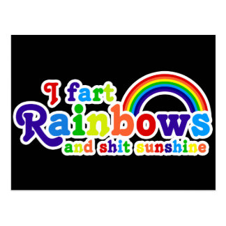 I Fart Rainbows and Shit Sunshine Grobe Postcard