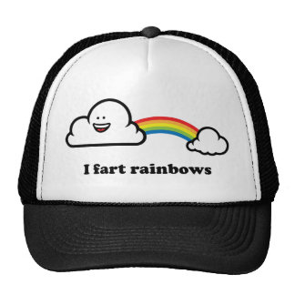 I fart rainbows trucker hat