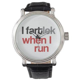 I FARTlek cuando corro el © - FARTlek divertido Relojes De Mano