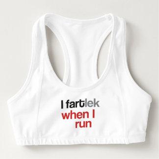 I FARTlek cuando corro el © - regalo divertido del Bra Deportivo
