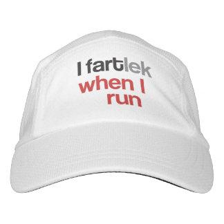 I FARTlek cuando corro el © - regalo divertido del Gorra De Alto Rendimiento