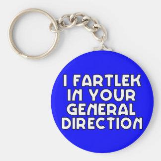 I Fartlek en su dirección general Llavero Redondo Tipo Pin