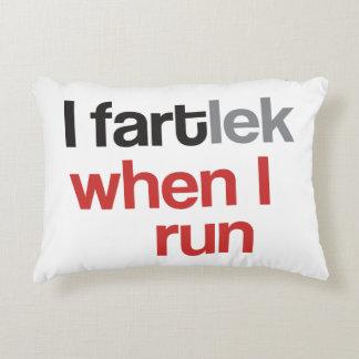 I FARTlek when I Run © - Funny FARTlek Accent Pillow