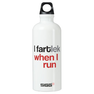 I FARTlek when I Run © - Funny FARTlek Aluminum Water Bottle