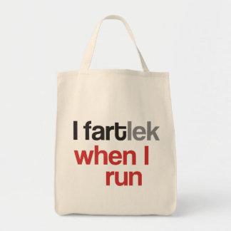 I FARTlek when I Run © - Funny FARTlek Tote Bags