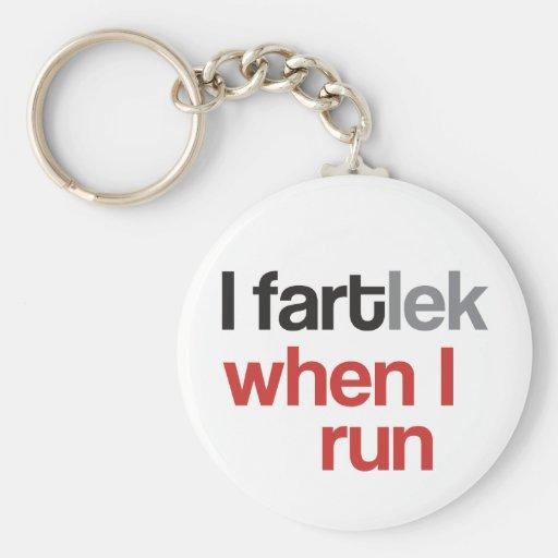I FARTlek when I Run © - Funny FARTlek Basic Round Button Keychain
