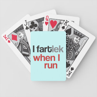 I FARTlek when I Run © - Funny FARTlek Bicycle Playing Cards