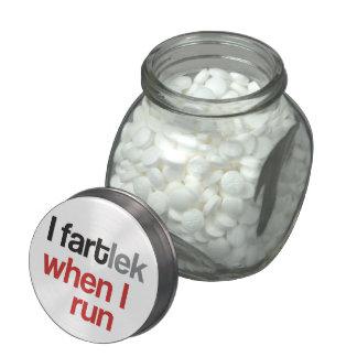 I FARTlek when I Run © - Funny FARTlek Jelly Belly Candy Jar