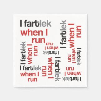 I FARTlek when I Run © - Funny FARTlek Runner Standard Cocktail Napkin
