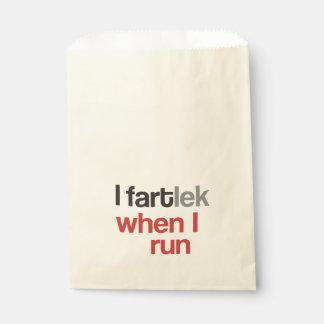 I FARTlek when I Run © - Funny FARTlek Favor Bags