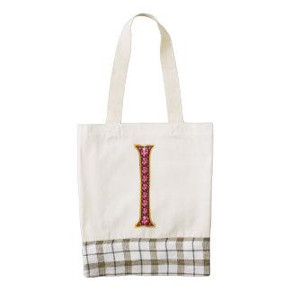 "I Faux-""Ruby"" Monogram Zazzle HEART Tote Bag"