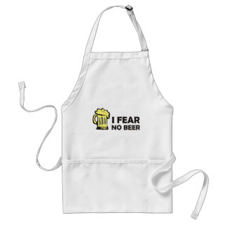 I fear no beer, funny foaming mug for party animal adult apron