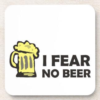 I fear no beer, funny foaming mug for party animal beverage coaster