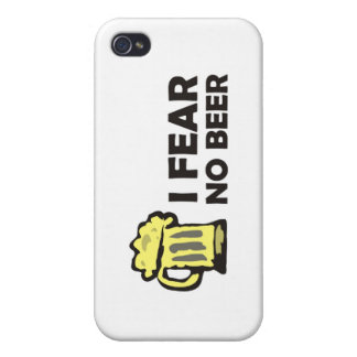 I fear no beer, funny foaming mug for party animal iPhone 4 case