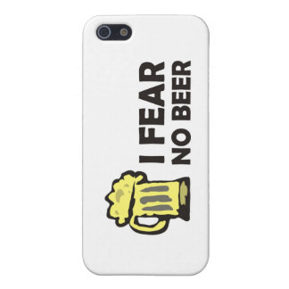 I fear no beer, funny foaming mug for party animal iPhone SE/5/5s cover