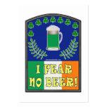 I Fear No Beer Large Business Cards (Pack Of 100)