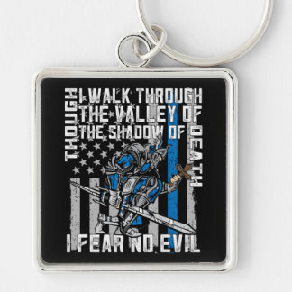 I Fear No Evil Police Crusader Keychain
