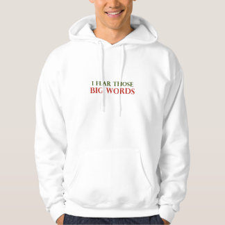 I fear those big words hooded pullover