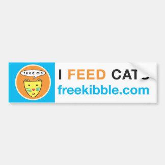 """I Feed Cats"" Bumper Sticker"