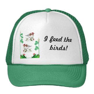 I feed the birds mesh hats