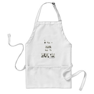 I Feel A Crushing Need to Ignore You Adult Apron