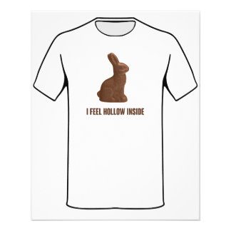I Feel Hollow Inside Chocolate Easter Bunny Flyer
