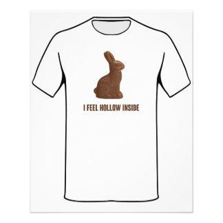 "I Feel Hollow Inside Chocolate Easter Bunny 4.5"" X 5.6"" Flyer"