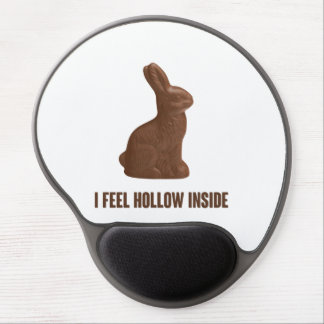 I Feel Hollow Inside Chocolate Easter Bunny Gel Mouse Pads
