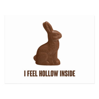 I Feel Hollow Inside Chocolate Easter Bunny Postcard