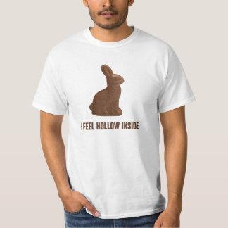 I Feel Hollow Inside Chocolate Easter Bunny T Shirt