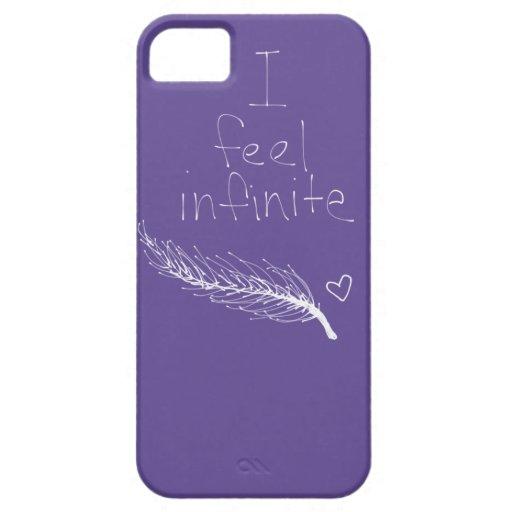 i feel infinite feather heart purple iphone 5 case