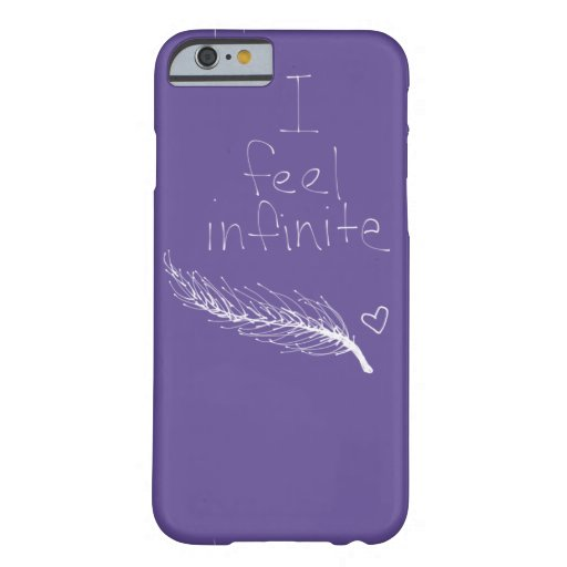 i feel infinite feather heart purple iPhone 6 case