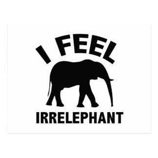 I Feel Irrelephant Postcard