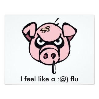 I feel like a :@) flu card
