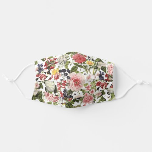 I feel pretty floral botanical garden cloth face mask