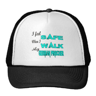 I Feel Safe With My German Pinscher Trucker Hat