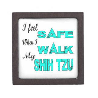I Feel Safe With My Shih Tzu Premium Trinket Box