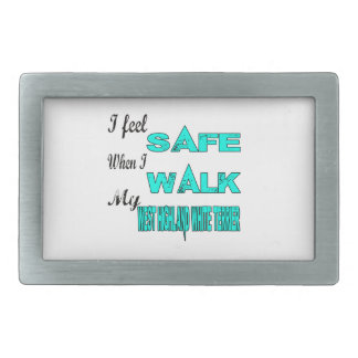 I Feel Safe With My West Highland White Terrier Belt Buckles