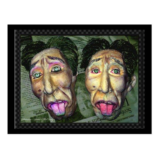 """I feel sick"" The Twin Face Postcard"
