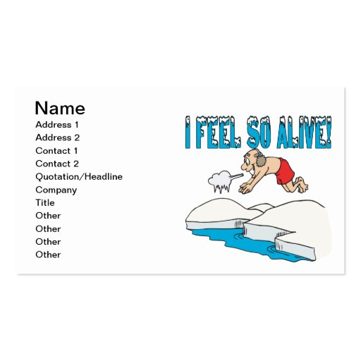 I Feel So Alive Business Card Templates