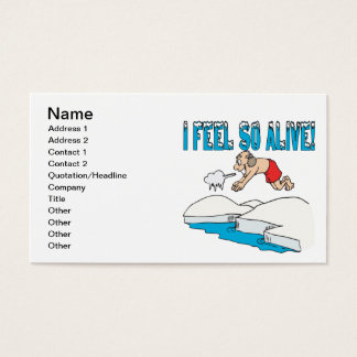 I Feel So Alive Business Card