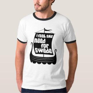 I Feel the Need for Swede Mens Ringer T-Shirt