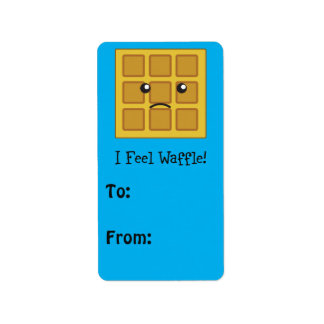 I feel Waffle! Address Label