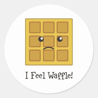 I feel Waffle! Classic Round Sticker