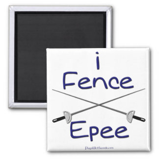 i Fence Epee (french grip) BLUE Magnet