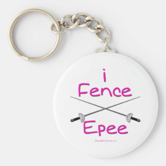 i Fence Epee (french grip) PINK Keychain