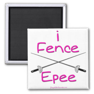 i Fence Epee (french grip) PINK Magnet