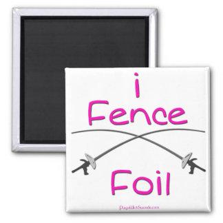 i Fence Foil (pistol grip) PINK Magnet