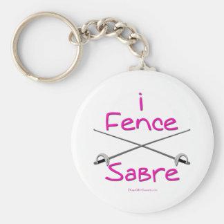 i Fence Sabre (PINK) Keychains